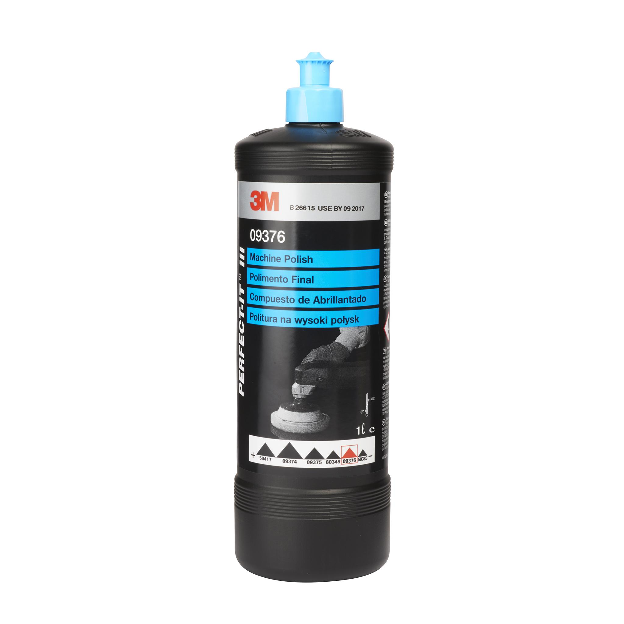 Polermedel 3M Ljusblå Kork Perfect-It Machine Polish, 1000 ml