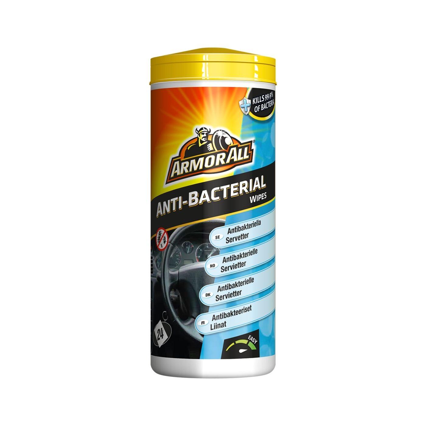 Våtservetter Desinfektion Armor All Anti-Bacterial Wipes, 24 st