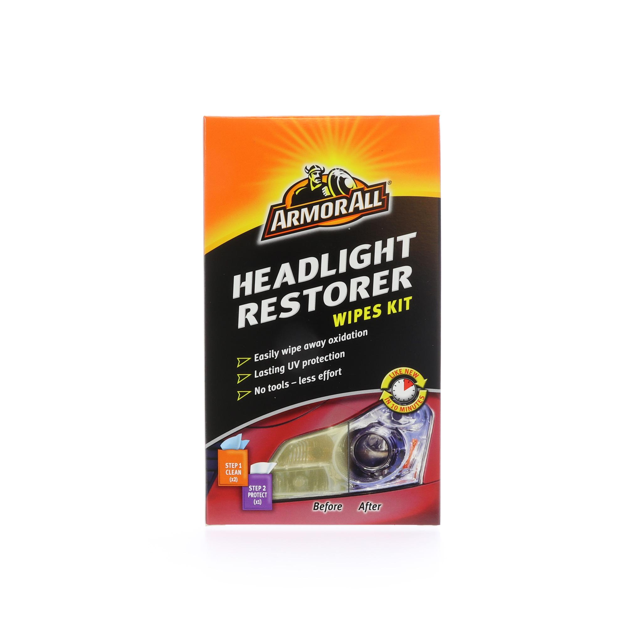 Återställningsduk Strålkastare Armor All Headlight Restorer Wipes Kit