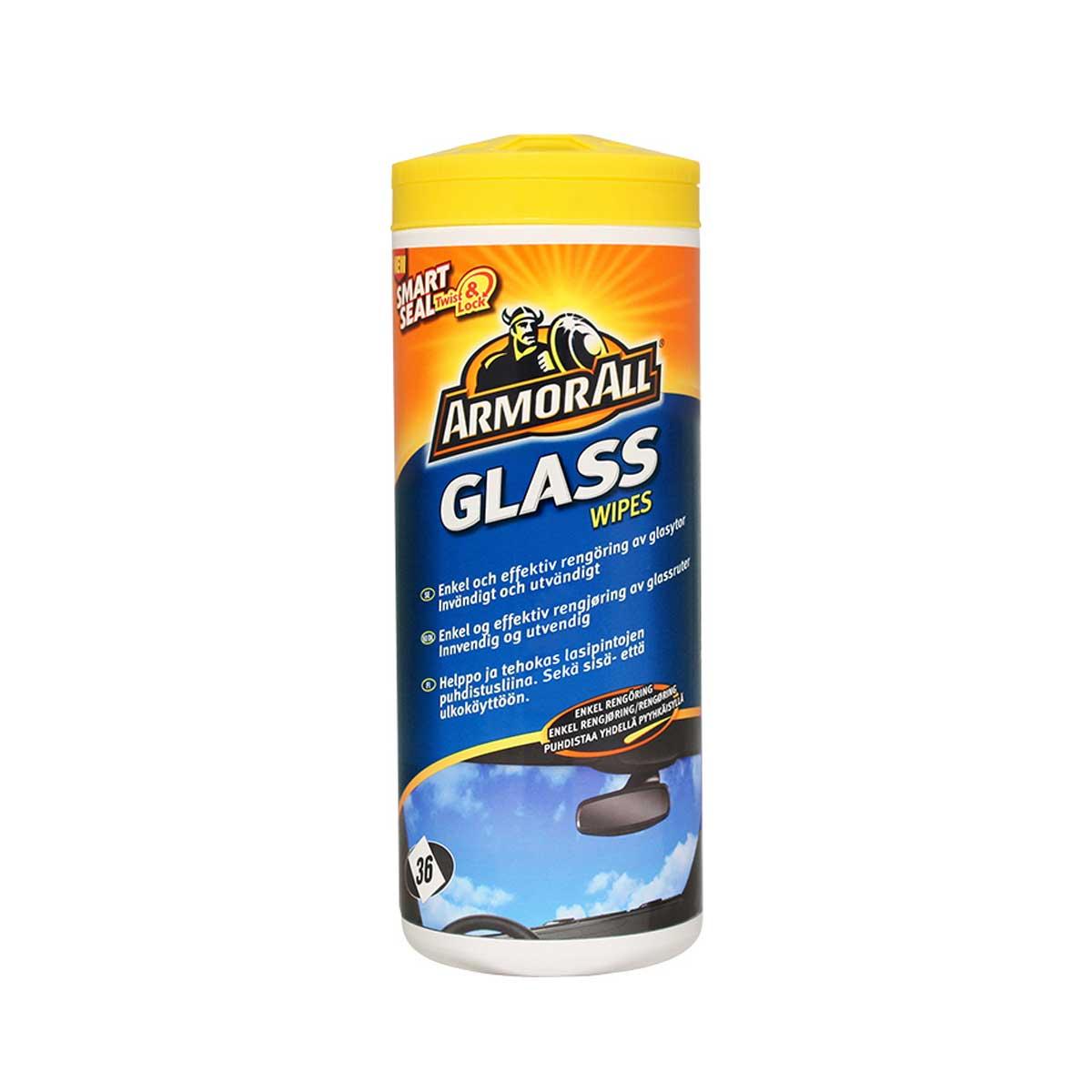 Våtservetter Glas Armor All Glass Wipes, 36 st