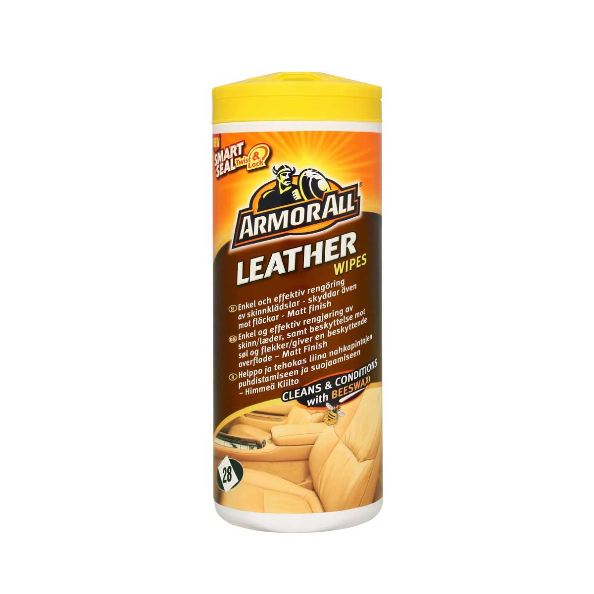 Våtservetter Läder Armor All Leather Wipes, 20 st