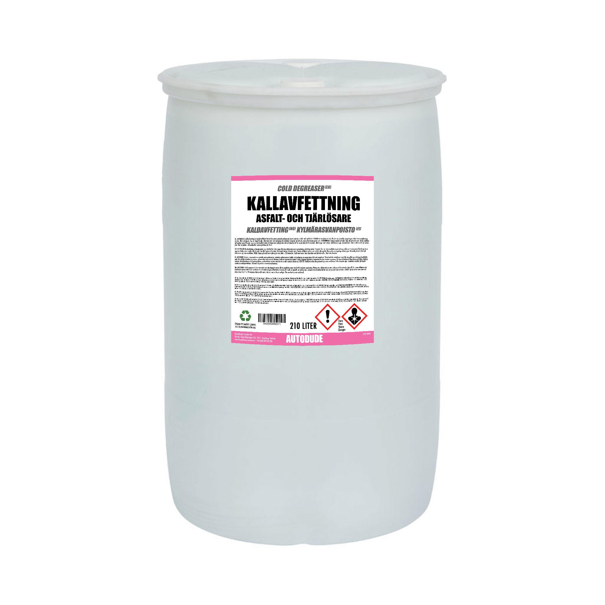 Asfaltslösare Autodude's Kallavfettning, 210 000 ml / Fat