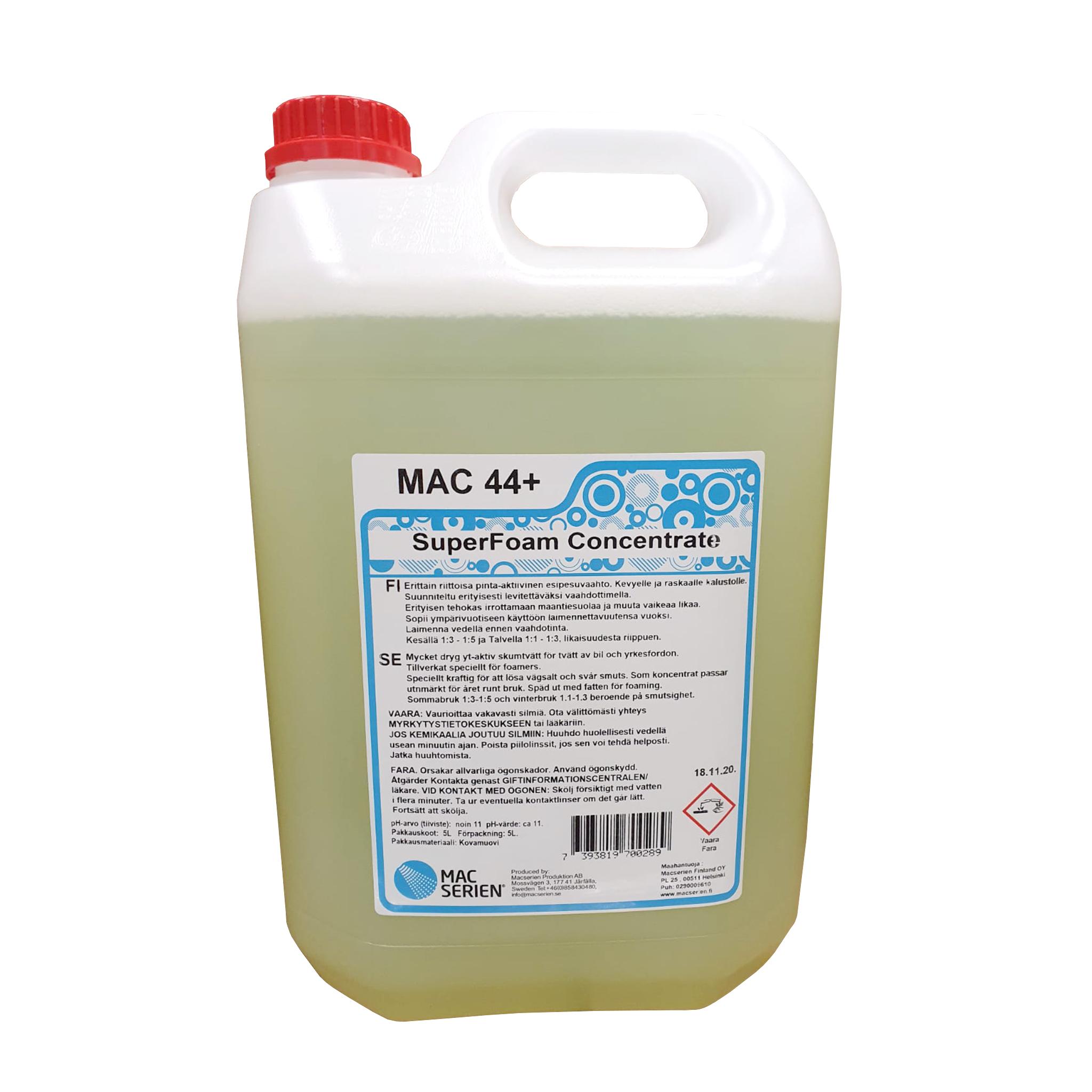 Förtvättsmedel Mac 44+ Superfoam, 10000 ml