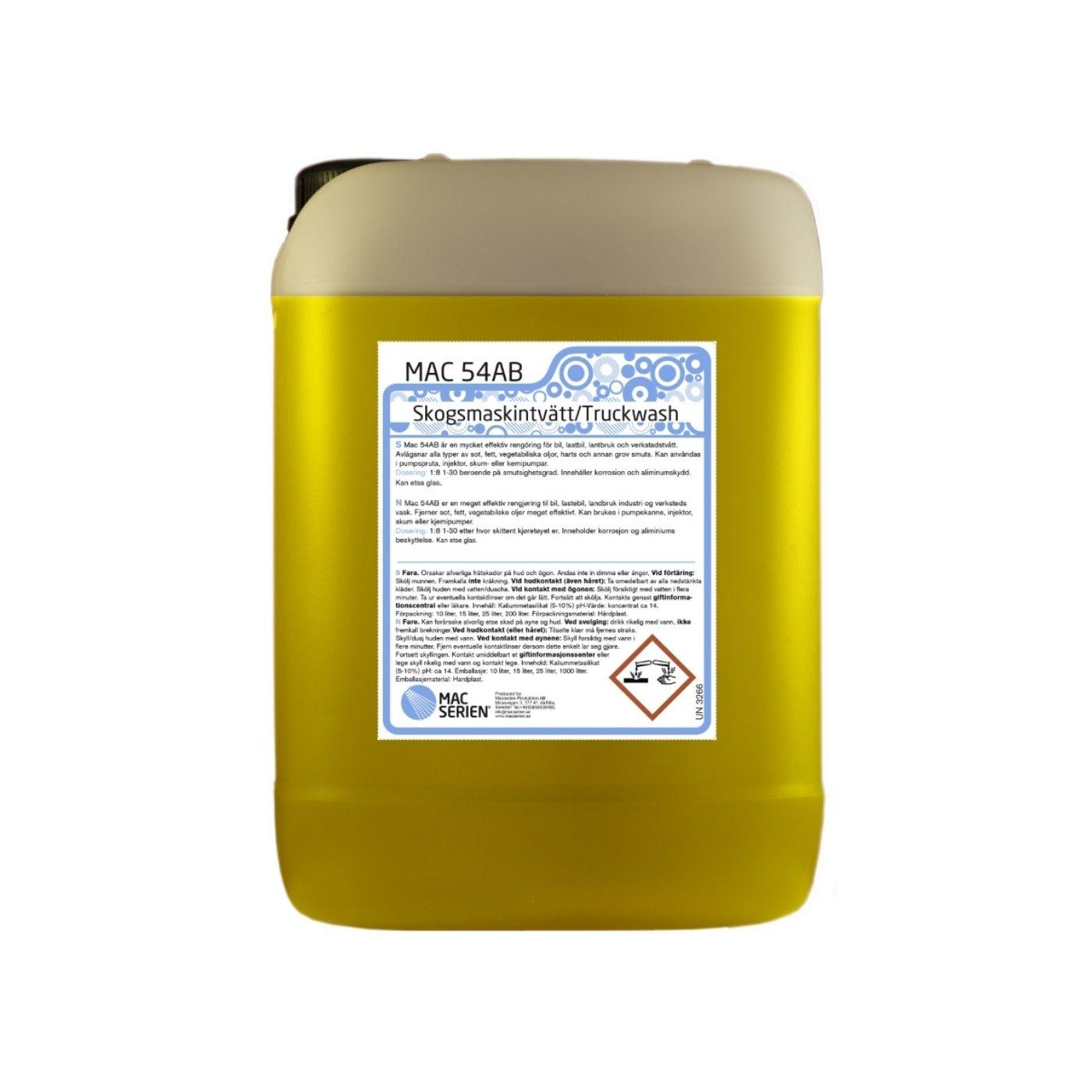 Förtvättsmedel Mac 54AB Skogsmaskinstvätt/ Truckwash, 10000 ml