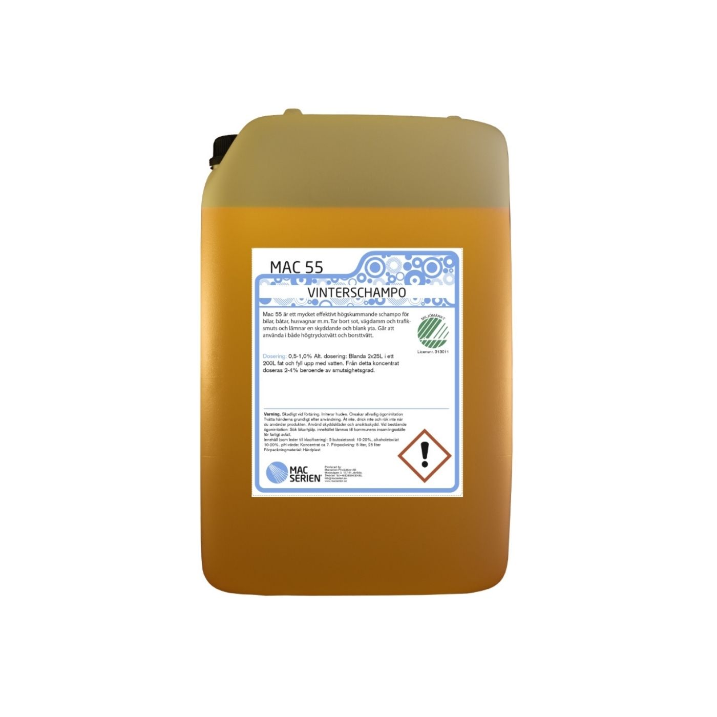 Bilschampo Mac 55 Vinterschampo, 25000 ml