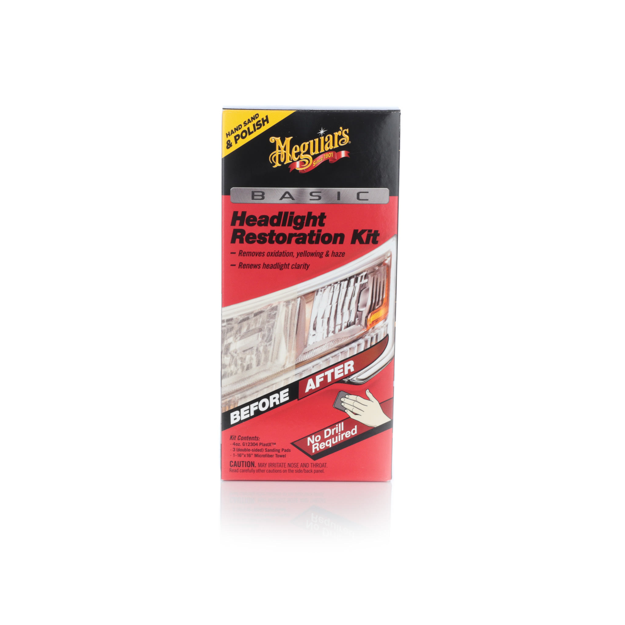 Poleringssats strålkastare Meguiars Headlight Restoration Kit Basic
