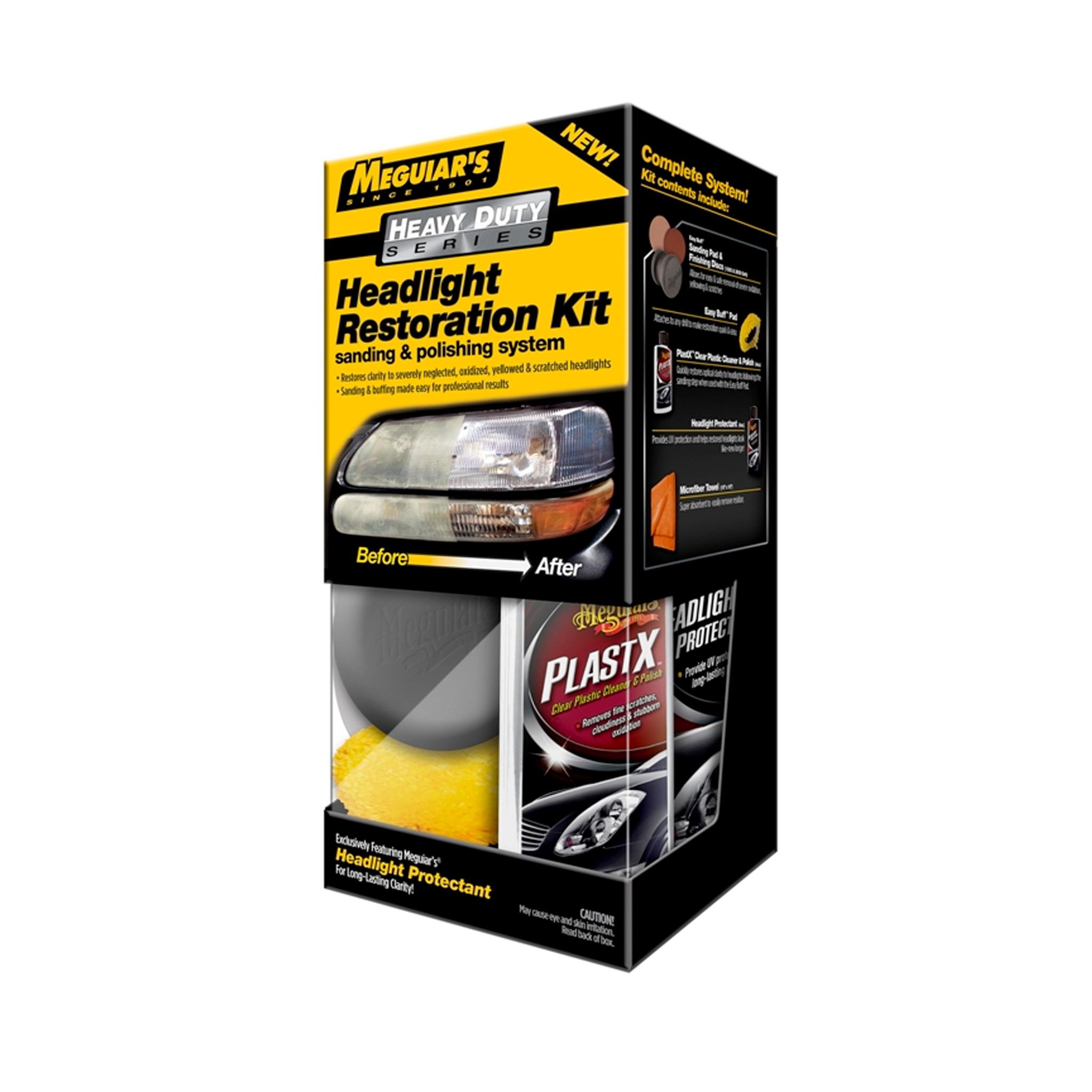 Poleringssats strålkastare Meguiars HD Headlight Restoration Kit