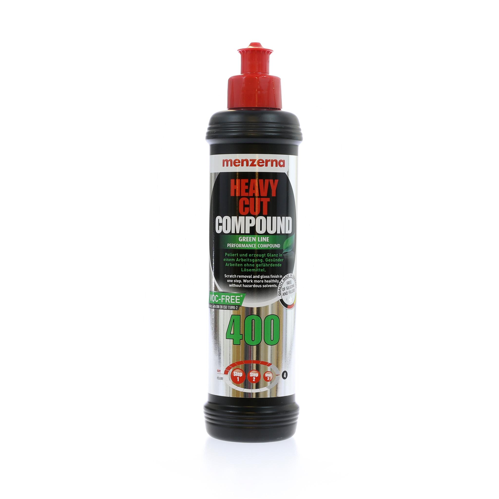Polermedel Menzerna Heavy Cut 400 Green Line, Grovrubbing, 1000 ml