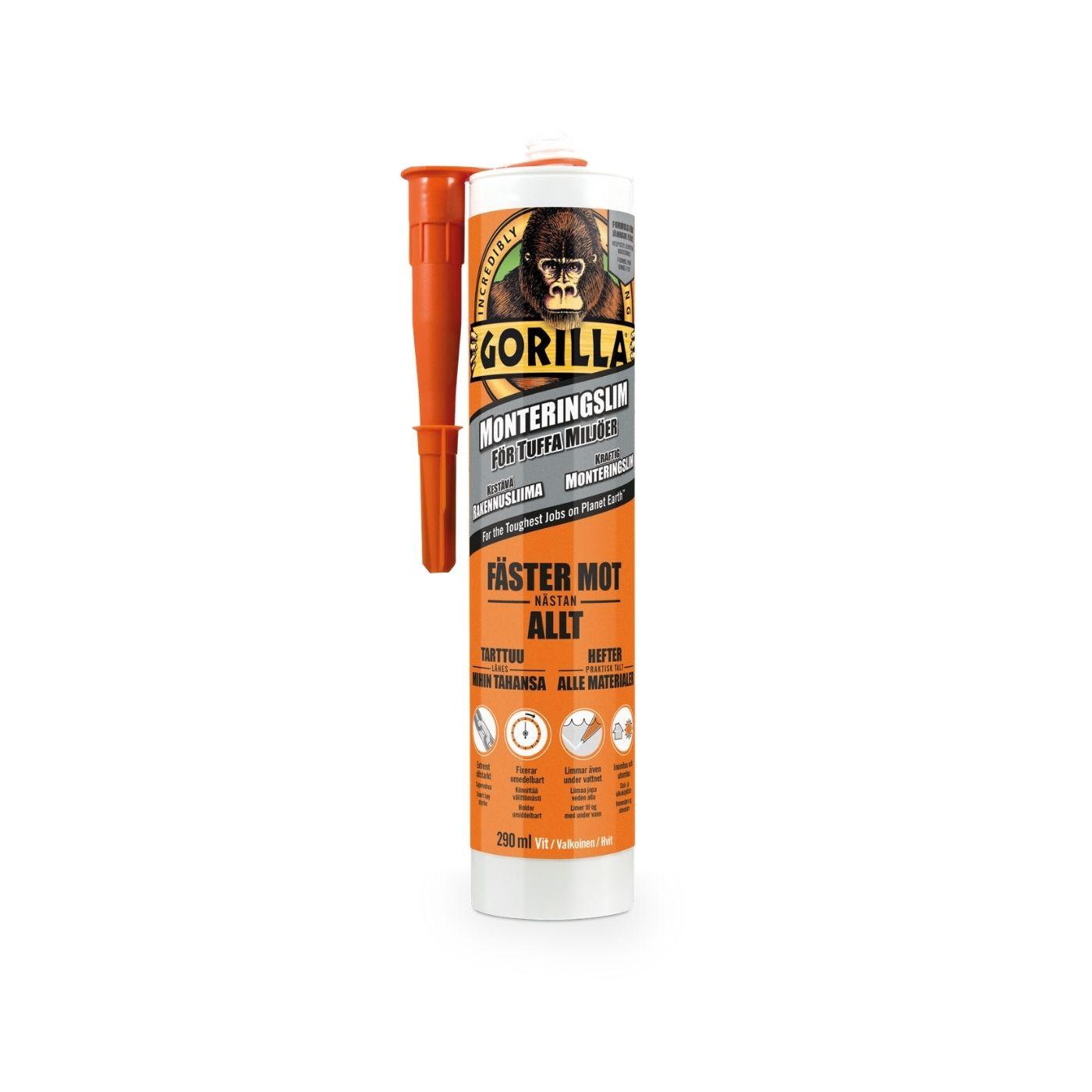 Monteringslim Gorilla Grab, 290 ml