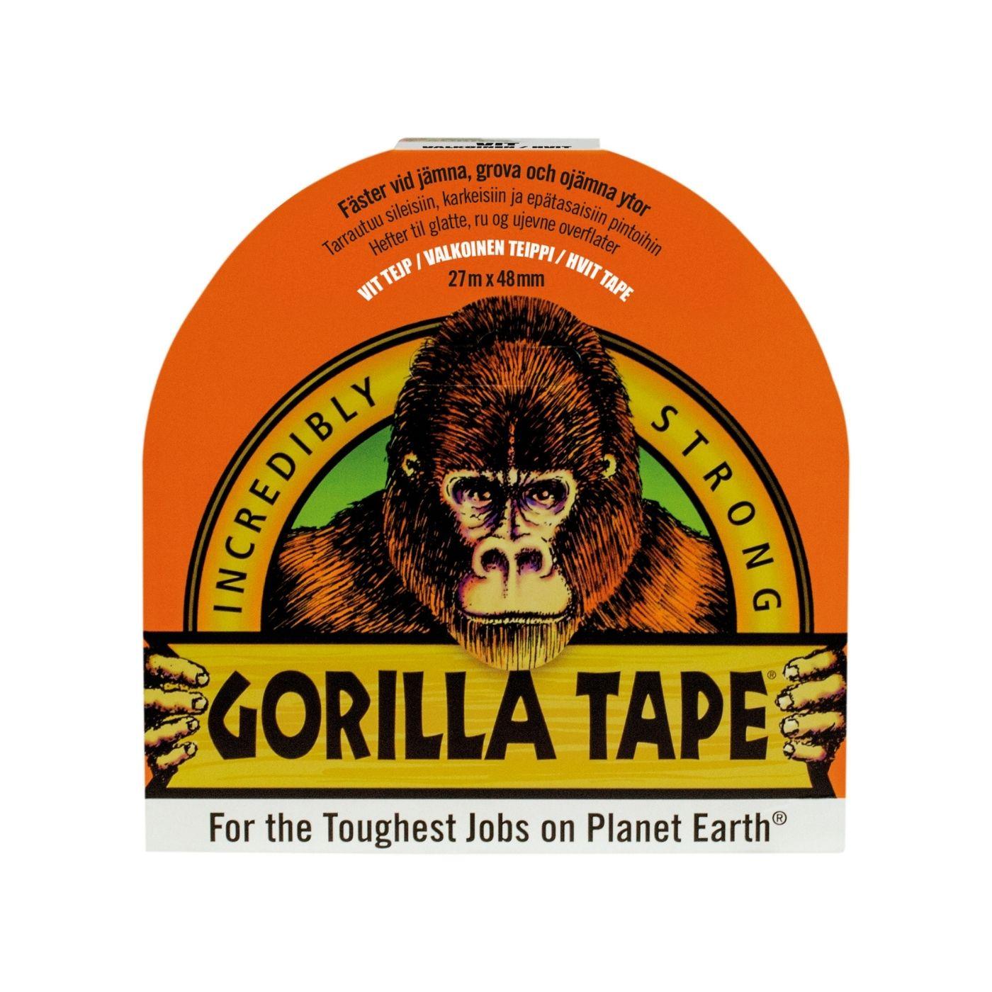 Vävtejp Gorilla Tape, Vit, 27 m x 48 mm