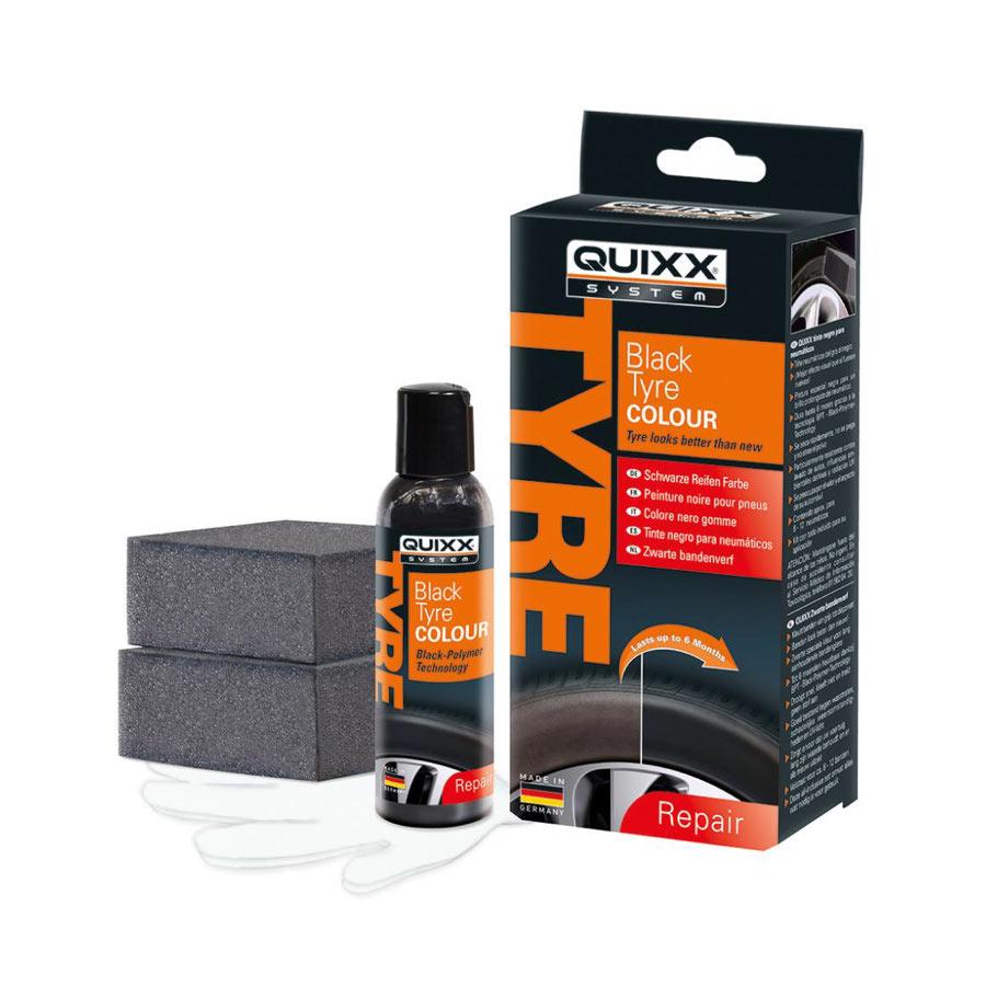 Däckförsegling Quixx Black Tyre Colour, 75 ml