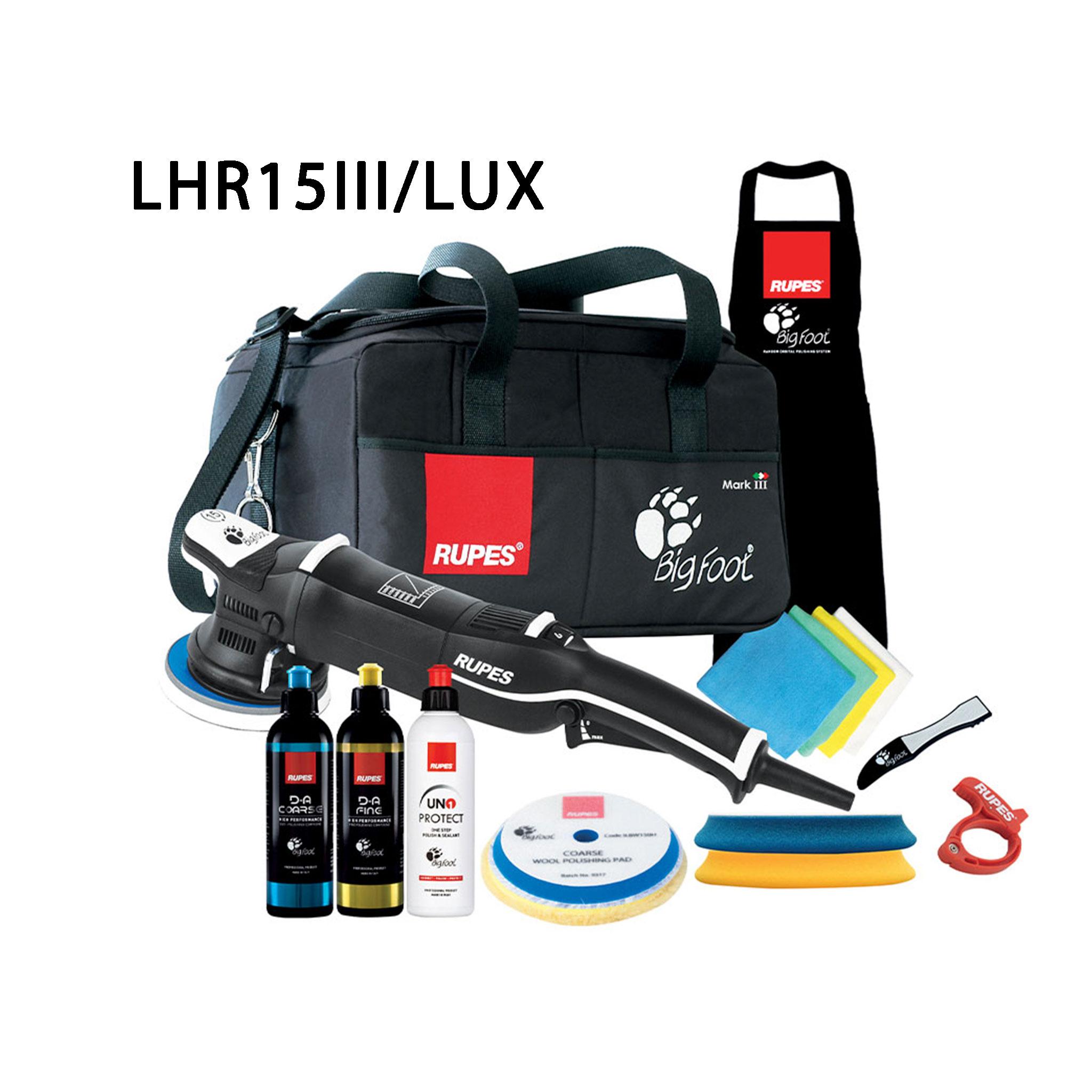Oscillerande polermaskin Rupes LHR15 Mark III, Lux-paket