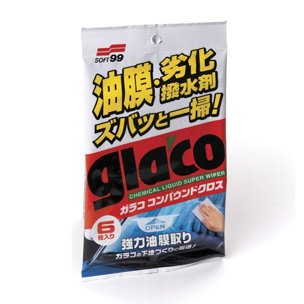 Glasrengöring Våtservetter Soft99 Glaco Glass Compound Wipes, 6 st