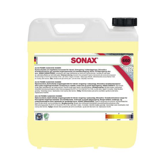 Förtvättsmedel Sonax SX Power Clean, 10000 ml