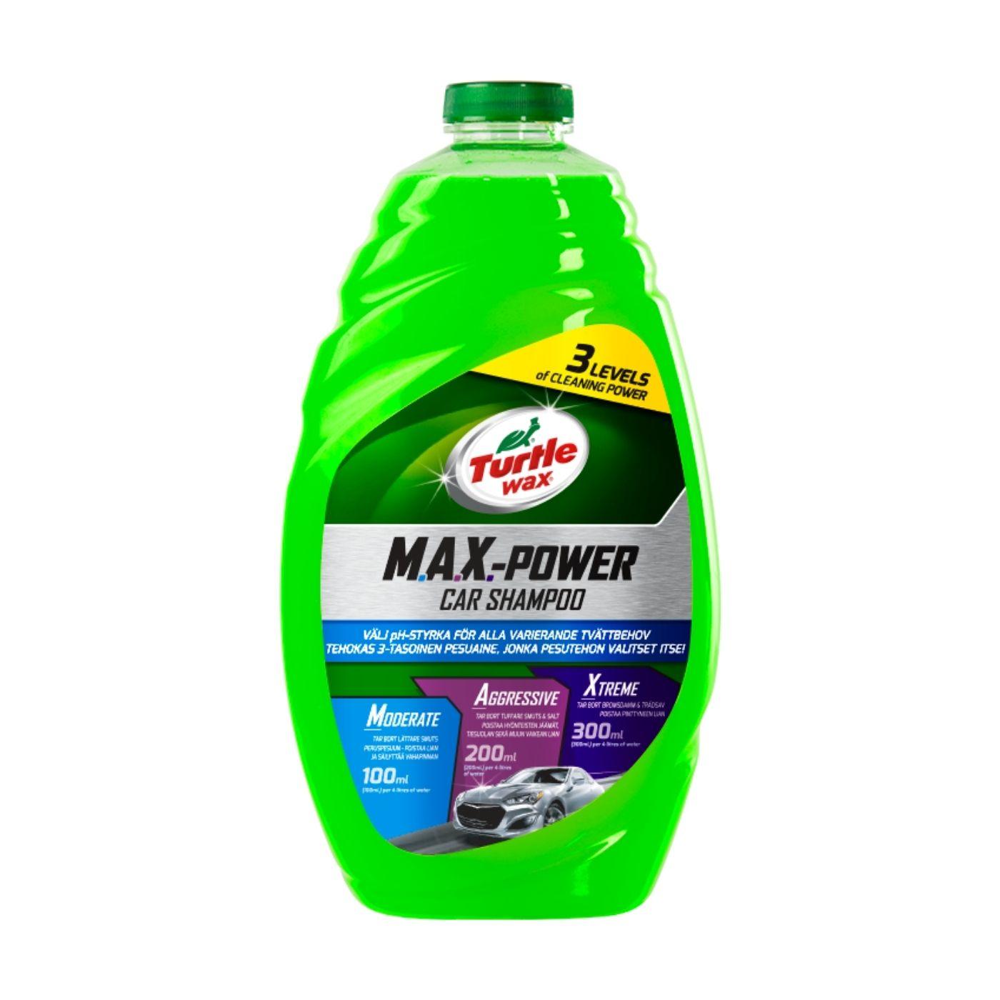 Bilschampo Turtle Wax MAX-POWER Car Shampoo, 1420 ml
