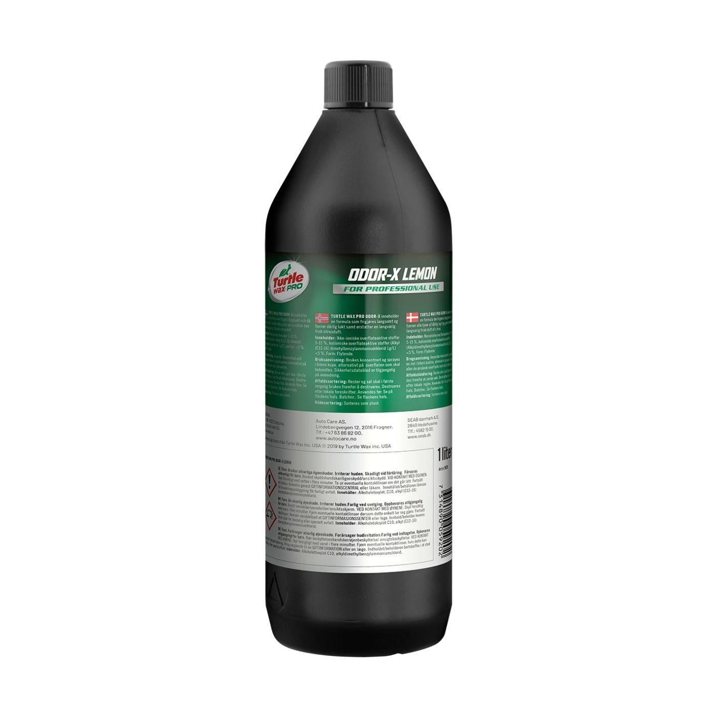 Luktborttagare Turtle Wax Pro Odor-X Lemon, 1000 ml
