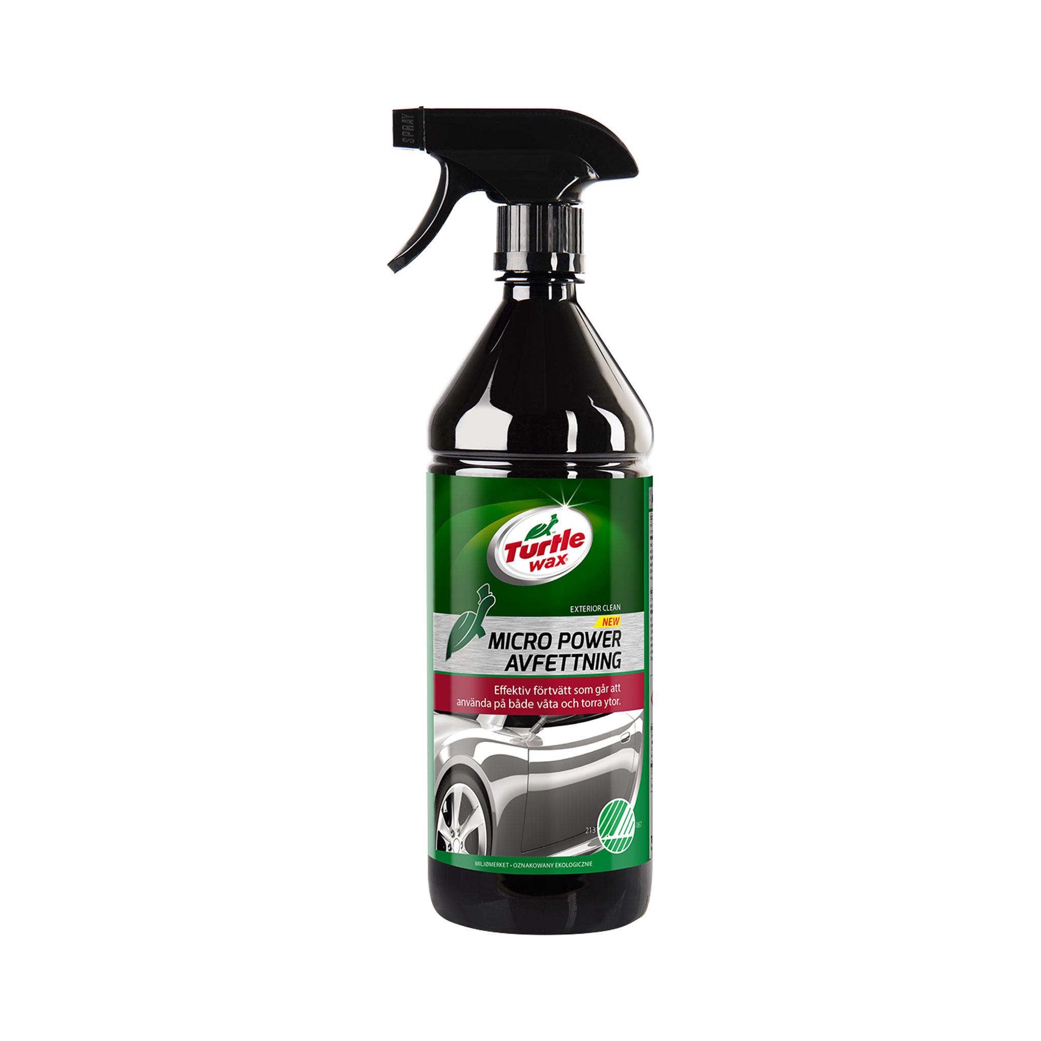Förtvättsmedel Turtle Wax Micro Power Avfettning Svanenmärkt, 1000 ml