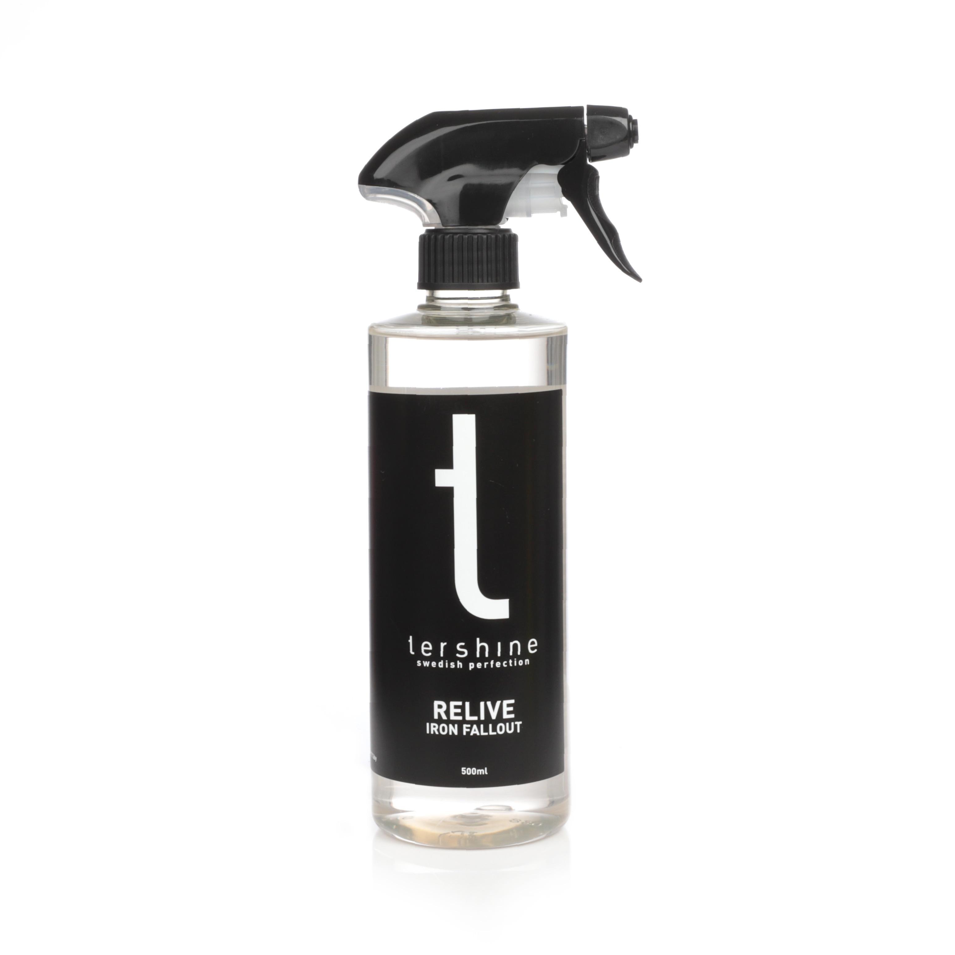 Flygrostlösare tershine Relive, Flaska 500 ml + Fälgborste