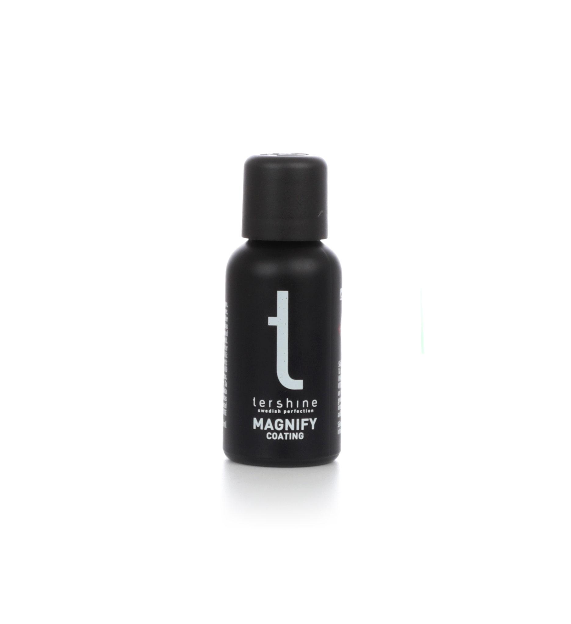 Lackförsegling tershine Magnify Coating, 30 ml, Lackförsegling 30 ml + Mikrofiberdukar