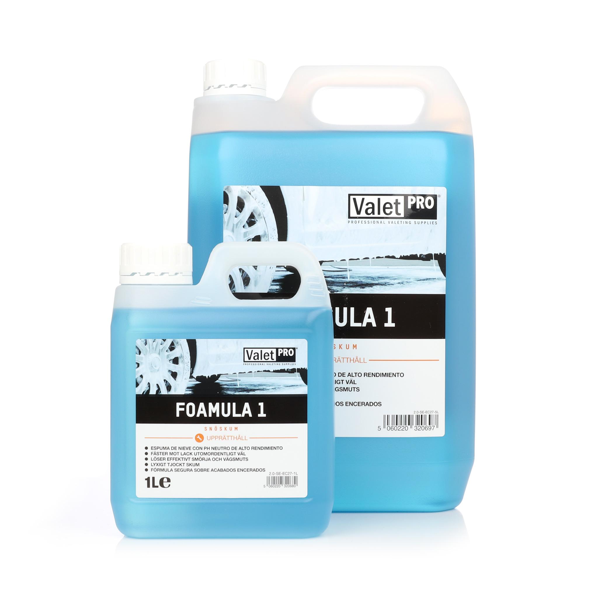 Förtvättsmedel ValetPRO Foamula 1, 1000 ml / Dunk