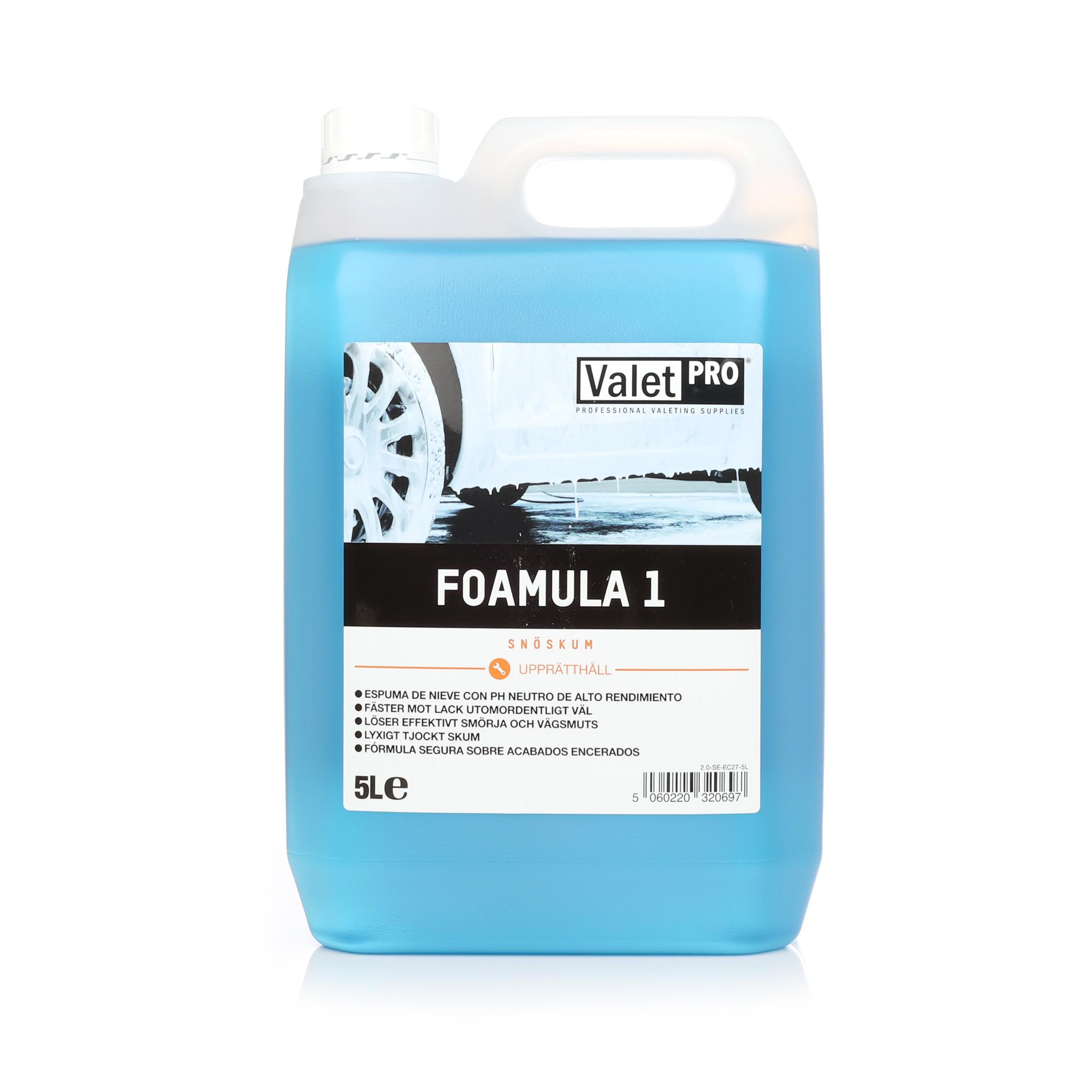 Förtvättsmedel ValetPRO Foamula 1, 5000 ml / Dunk