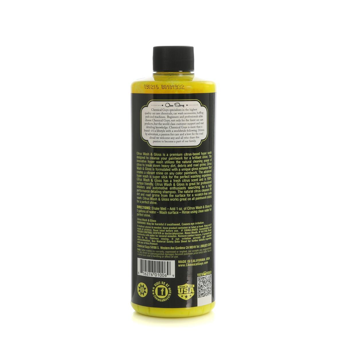 vahashampoo chemical guys citrus wash gloss 12 90. Black Bedroom Furniture Sets. Home Design Ideas
