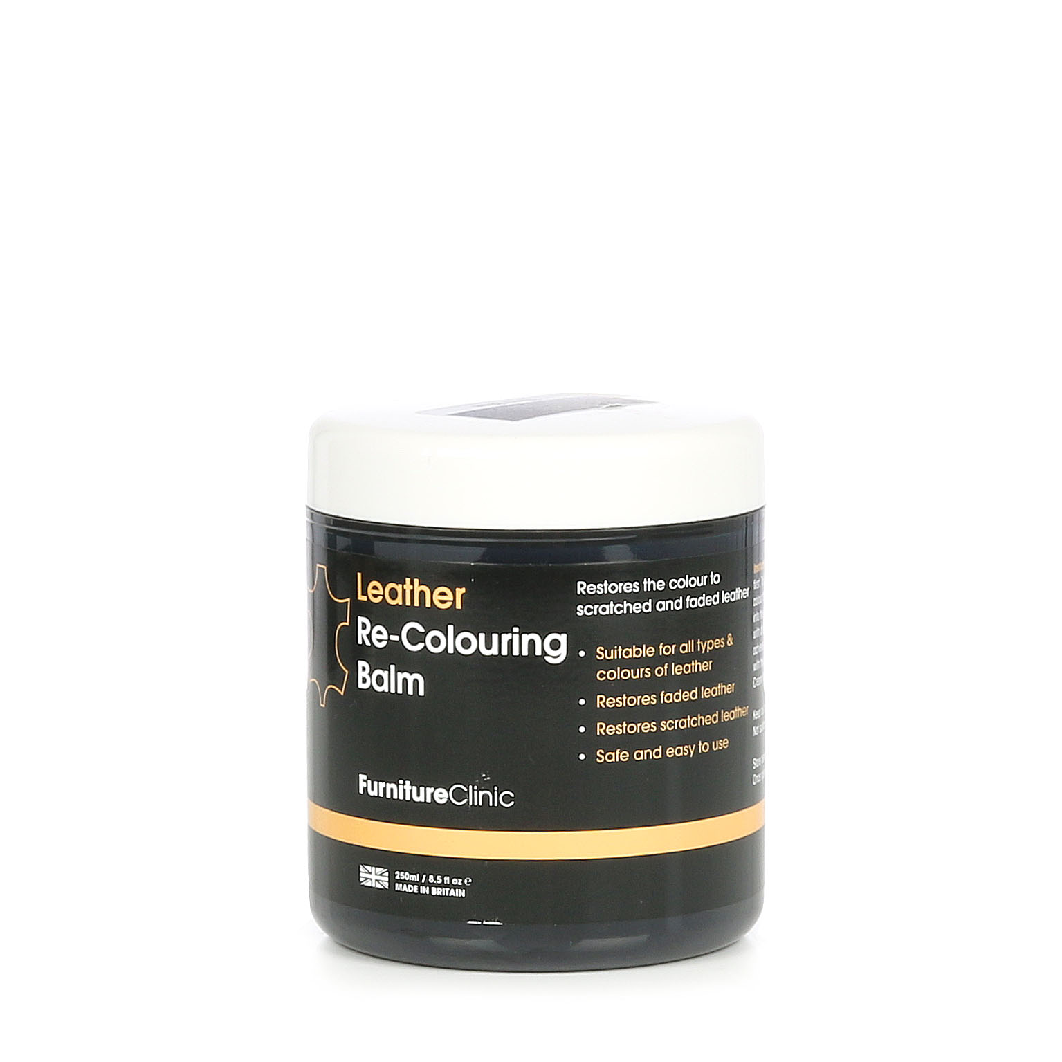 Läderfärgningsmedel Furniture Clinic Leather Re-Colouring Balm, 250 ml, Beige