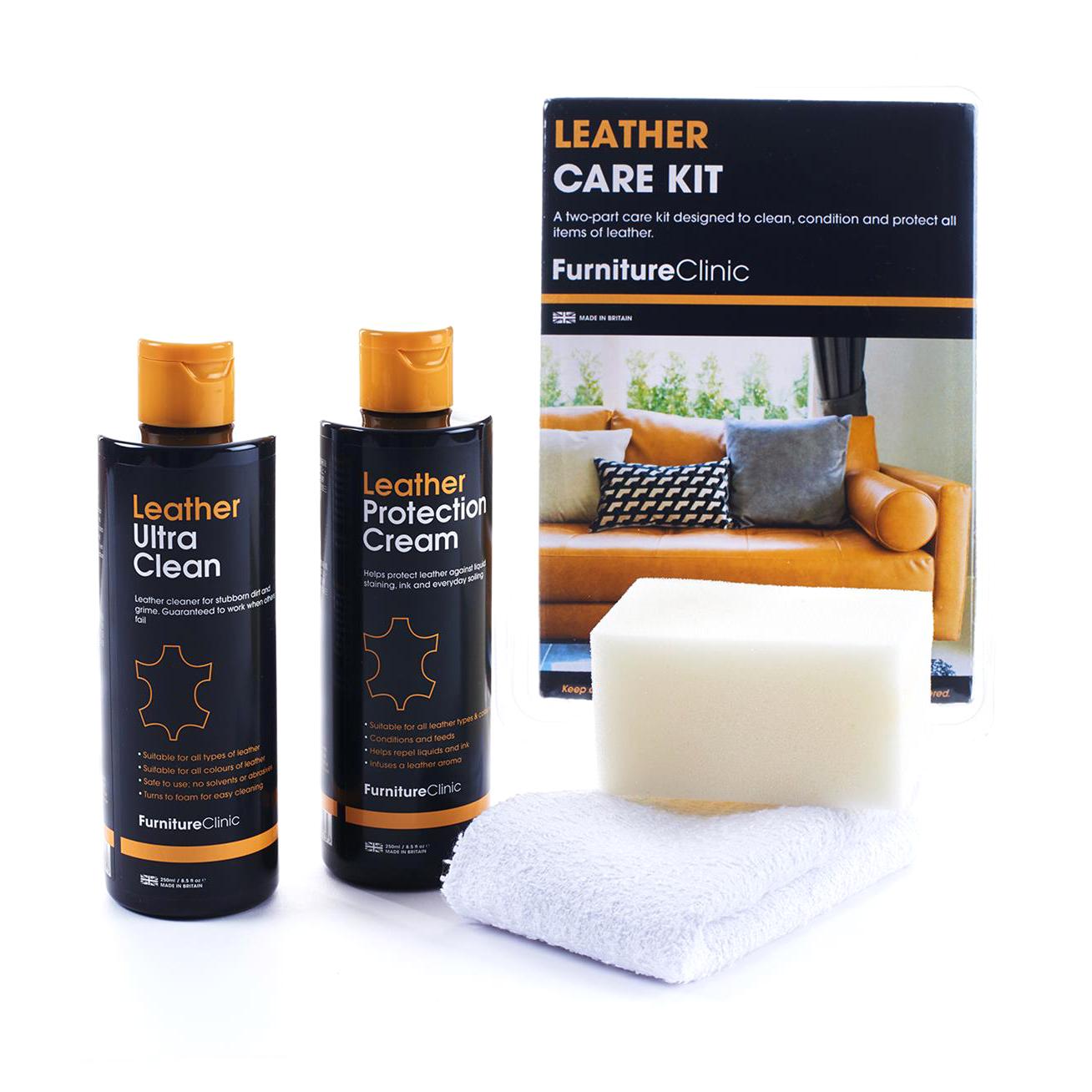 Läderbehandlingspaket Furniture Clinic Leather Car Interior Care Kit