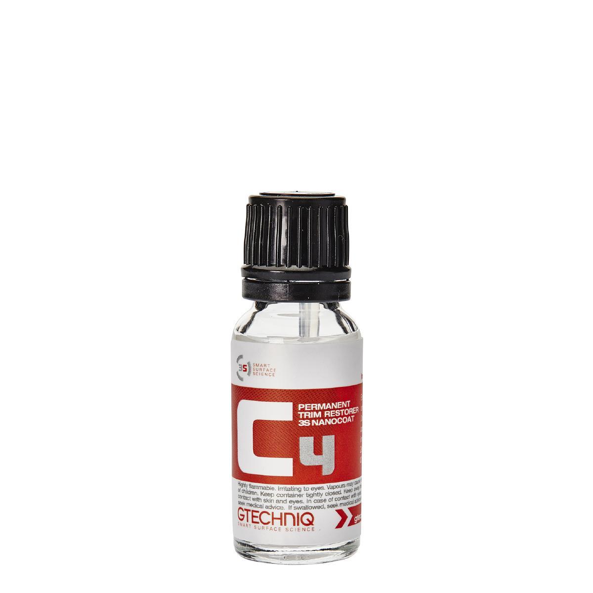 Plastförsegling Gtechniq C4 Permanent Trim Restorer, 15 ml
