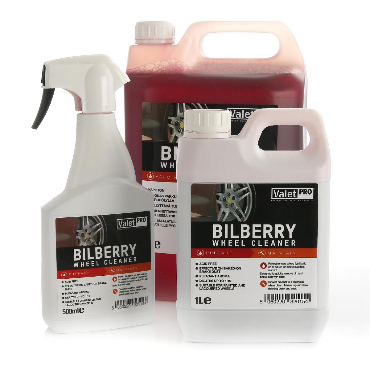 Fälgrengöring ValetPRO Bilberry Wheel Cleaner, 1000 ml / Dunk