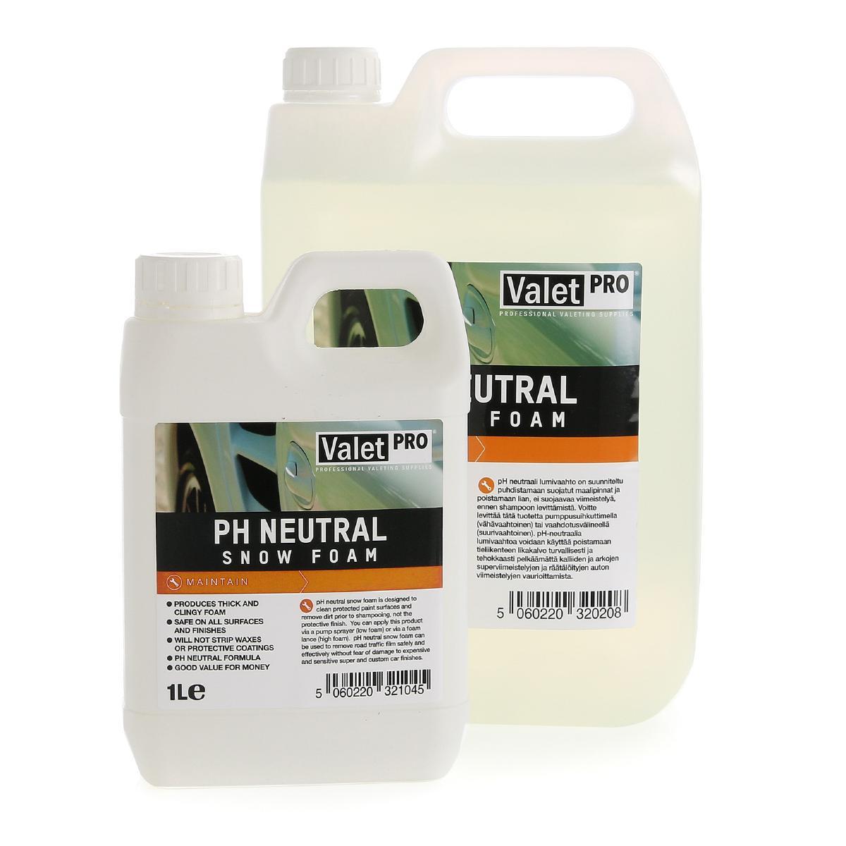 Förtvättsmedel ValetPRO PH Neutral Snow Foam, 1000 ml