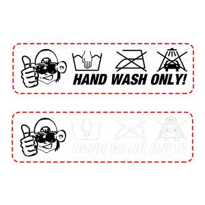 Autodude klistremerke - Hand Wash Only
