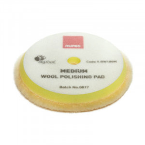 Ullrondell Rupes Wool Polishing Pad Medium, Gul