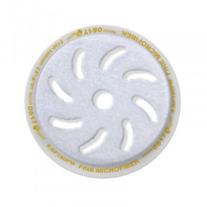 Mikrofiberrondell Rupes Microfiber Pad Fine, Gul