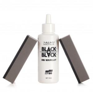 Rengaspinnoite Soft99 Black Black Hard Coat For Tire, 110 ml