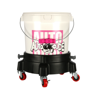 Hållare med hjul till tvätthink, Grit Guard Bucket Dolly - Svart