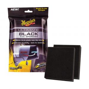 Plastbehandling med appliseringssvamp Meguiars Ultimate Black Sponges (2 stk.)