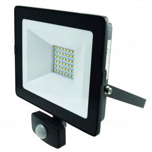 LED-arbetsbelysning 230V, 30W, med rörelsesensor