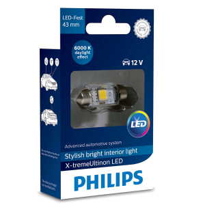 LED-spollampa PHILIPS 43 mm, X-tremeUltinon +200%