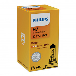 Halogeenipolttimo PHILIPS Vision +30%, 55W, H7