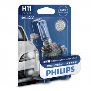 Halogenlampa PHILIPS WHITE Vision, 55W, H11