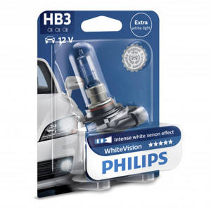 Halogenlampa PHILIPS WHITE Vision, 65W, HB3