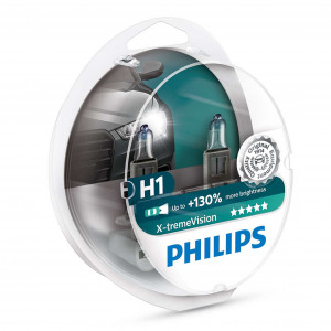 Halogenpære Philips X-TremeVision +130%, 55W, H1