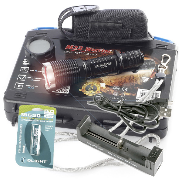 KOMPLETT PAKET - Olight M22 Warrior, 950 lm