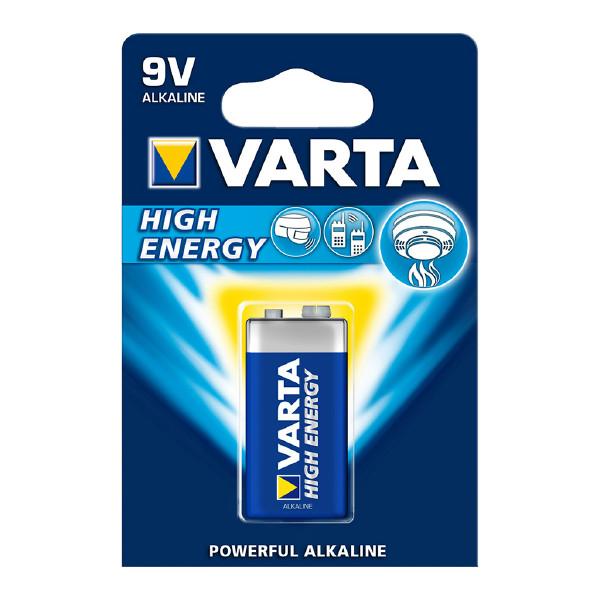 9V-batteri VARTA High Energy, 1 st